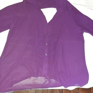 Forever 21 Hi Lo Blouse with Back cut out